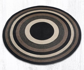7.75' Mocha Frappuccino Braided Jute Round Rug