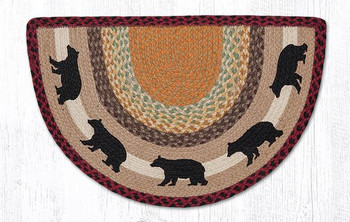 "18"" x 29"" Cabin Bears Braided Jute Slice Rug"