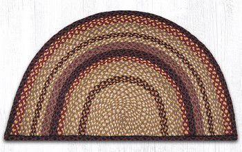 "24"" x 39"" Black Cherry Chocolate Cream Braided Jute Slice Rug"