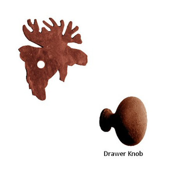 Moose Metal Drawer Pull with Back Plate