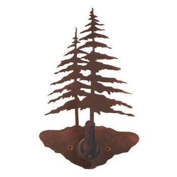Double Pine Trees Metal Robe Hook