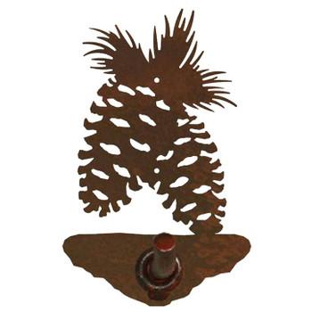 Pine Cone Metal Robe Hook