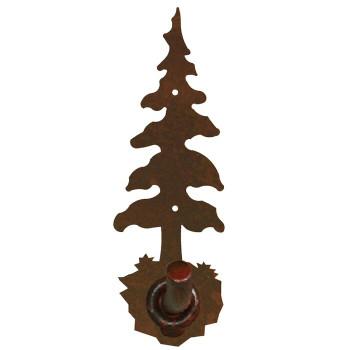 Single Pine Tree Metal Robe Hook