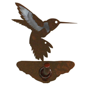 Burnished Hummingbird Metal Robe Hook