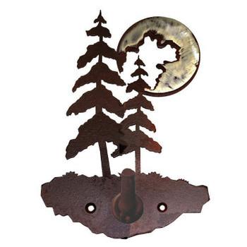 Burnished Pine Trees Metal Robe Hook