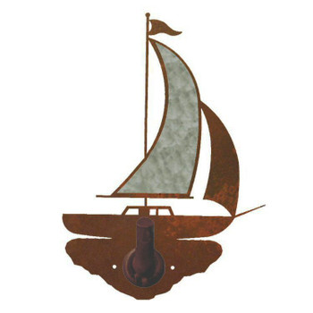 Burnished Sailboat Metal Robe Hook