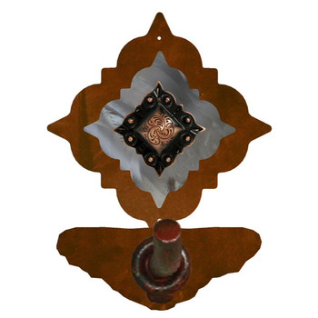 Burnished Diamond Copper Berry Concho Metal Robe Hook