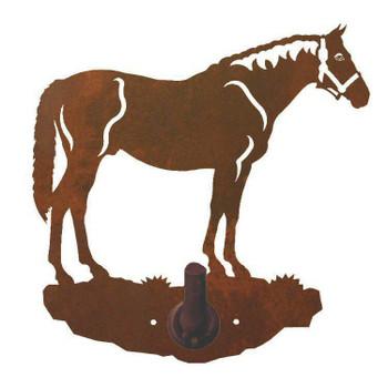Bay Horse Metal Robe Hook