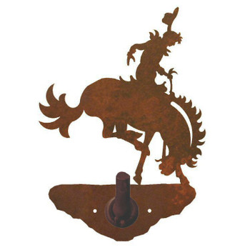 Bucking Bronco Rider Metal Robe Hook