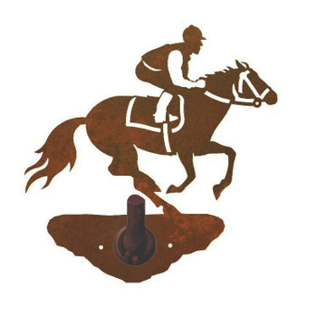 Derby Horse Racer Metal Robe Hook