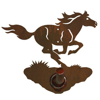 Running Wild Horse Metal Robe Hook