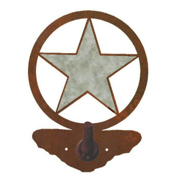 Burnished Texas Star Metal Robe Hook