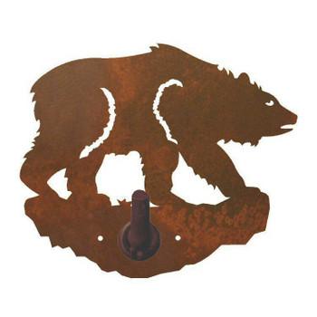 Brown Bear Metal Robe Hook