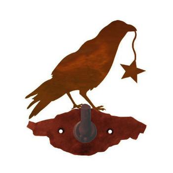 Crow Bird Metal Robe Hook