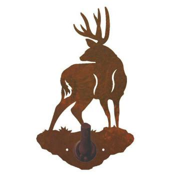 Mule Deer Metal Robe Hook