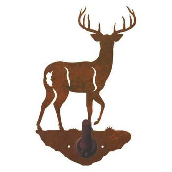 Whitetail Deer Metal Robe Hook