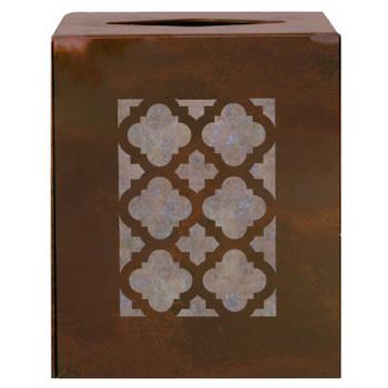 Classic Metal Boutique Tissue Box Cover