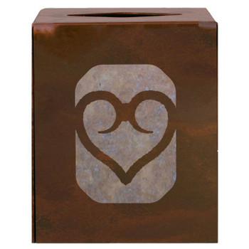 Heart Metal Boutique Tissue Box Cover
