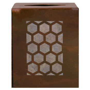 Honeycomb Metal Boutique Tissue Box Cover