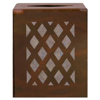 Lattice Metal Boutique Tissue Box Cover