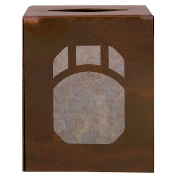 Mountain Mission Metal Boutique Tissue Box Cover