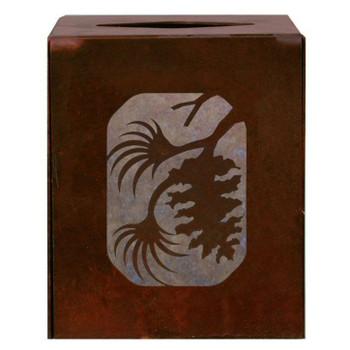 Pine Cone Metal Boutique Tissue Box Cover