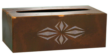 Geo Diamond Metal Flat Tissue Box Cover