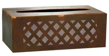 Lattice Metal Flat Tissue Box Cover