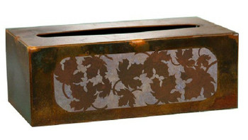 Maple Leaf Metal Flat Tissue Box Cover