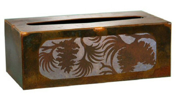 Pine Cone Metal Flat Tissue Box Cover