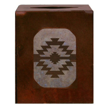 Desert Diamond Metal Boutique Tissue Box Cover