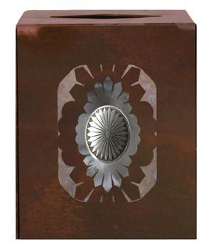 Sunburst Concho Metal Boutique Tissue Box Cover
