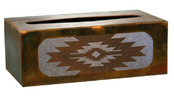 Desert Diamond Metal Flat Tissue Box Cover