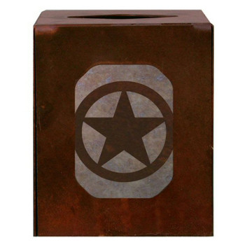 Texas Star Metal Boutique Tissue Box Cover