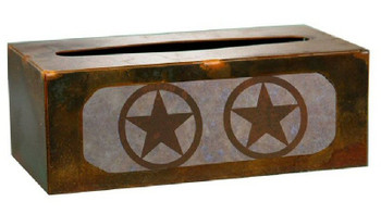 Texas Star Metal Flat Tissue Box Cover