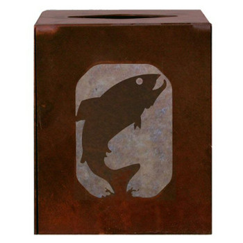 Trout Fish Metal Boutique Tissue Box Cover