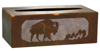 Buffalo Metal Flat Tissue Box Cover