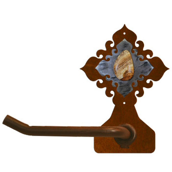 Picture Jasper Stone Metal Toilet Paper Holder