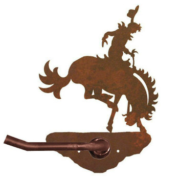 Bucking Bronco Rider Metal Toilet Paper Holder