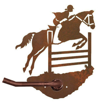 Equestrian Show Jumping Metal Toilet Paper Holder