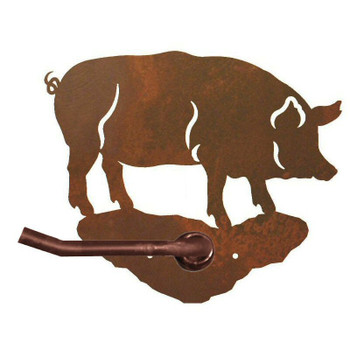 Pig Metal Toilet Paper Holder