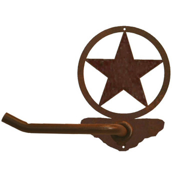 Texas Western Star Metal Toilet Paper Holder