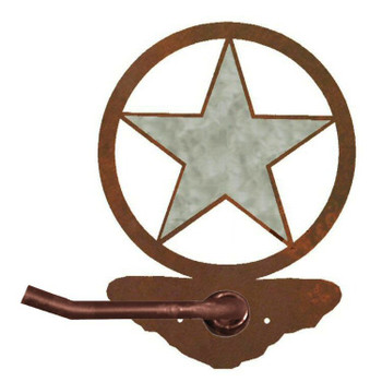 Burnished Texas Star Metal Toilet Paper Holder