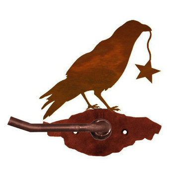 Crow Bird Metal Toilet Paper Holder