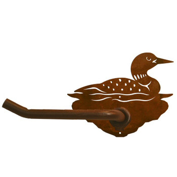 Swimming Loon Metal Toilet Paper Holder