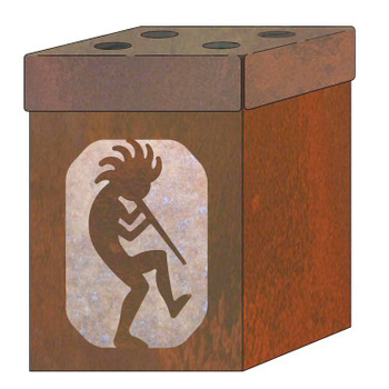 Kokopelli Metal Toothbrush Holder