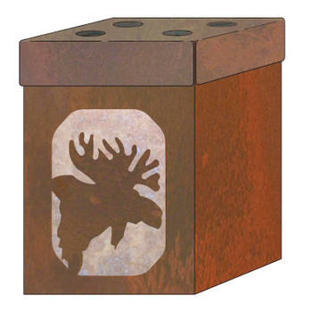 Moose Metal Toothbrush Holder