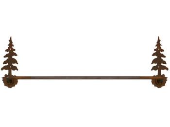 "27"" Single Pine Tree Metal Towel Bar"