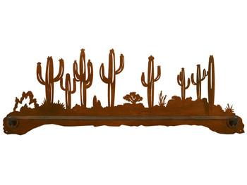 "27"" Desert Scene Scenic Metal Towel Bar"