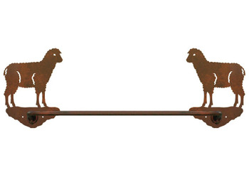 "27"" Sheep Metal Towel Bar"